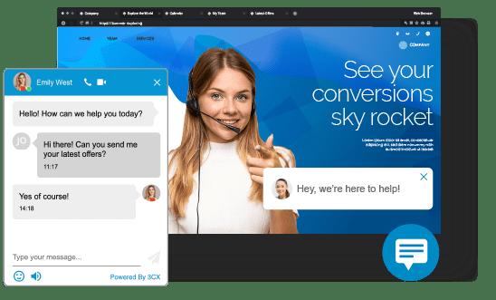 Chat integrado ao site